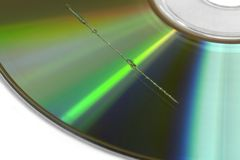 Scratch on CD surface Royalty Free Stock Photography