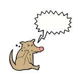 scratch del cane del fumetto con il fumetto Immagine Stock Libera da Diritti
