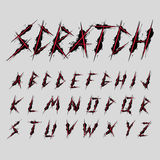 Scratch font typeface design vector Royalty Free Stock Photography
