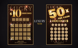 Scratch lottery ticket vector design template Stock Images