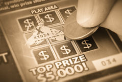 Scratch Off Gambling Ticket royalty free stock photos