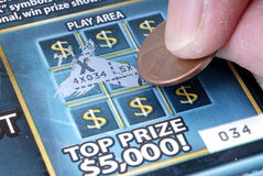 Scratch Off Gambling Ticket Stock Images