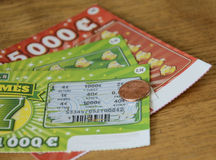 Scratch Off Gambling Ticket Stock Photography