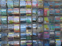Scratch off lotteries stand in NJ. 2016, USA. Г. Stock Photography