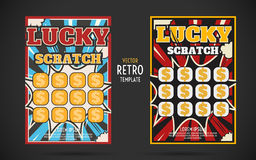 Instant lottery ticket scratch off stock illustrations 13 scratch off lottery ticket vector design template royalty free stock images sciox Images