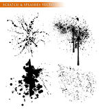 Scratch & splashes vector template Stock Photos