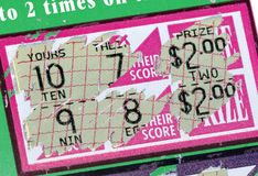 Scratch Ticket Royalty Free Stock Photo