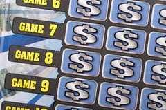 Scratch ticket background Stock Photography