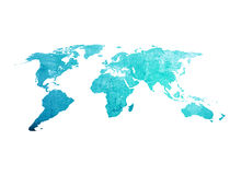 Scratch vintage world map Royalty Free Stock Photography