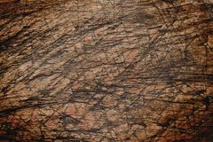 Scratch on wood for pattern and background Royalty Free Stock Photography