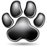 Scratchboard Paw Print Photo stock