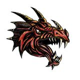 Angry Dragon Head Scratchboard Royalty Free Stock Photography