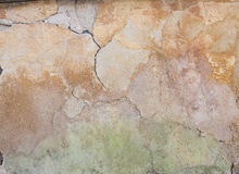 Scratched aged wall plaster Royalty Free Stock Image