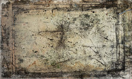 Scratched antique background. Scratched and dirty antique grunge style background royalty free stock photo