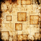 Scratched background. With squares and stains royalty free illustration