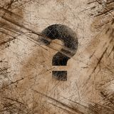 Scratched background. Question mark on the scratched background Royalty Free Stock Images
