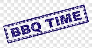 Free Scratched BBQ TIME Rectangle Stamp Stock Images - 136933224