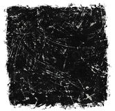 Scratched black ink brush strokes Stock Images