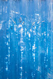 Scratched blue metallic texture Stock Photography