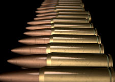 Scratched Bullet Row Royalty Free Stock Images