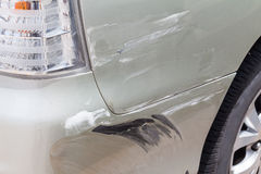 Scratched car paint Royalty Free Stock Photos