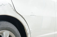 Scratched car Royalty Free Stock Photography