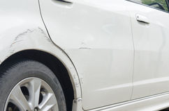 Scratched car Stock Photography