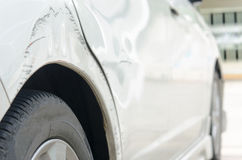 Scratched car Stock Images