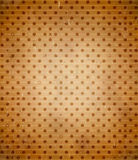 Scratched cardboard with polka dot pattern Royalty Free Stock Photography