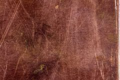Scratched copper plate texture, old metal background Stock Images