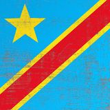 Scratched Democratic Republic of Congo flag. 3d rendering of Democratic Republic of Congo flag in a scratched surface Royalty Free Stock Photos
