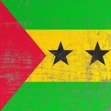 Scratched Democratic Republic of Sao Tome and Principe flag. 3d rendering of Democratic Republic of Sao Tome and Principe flag in a scratched surface Stock Photos