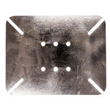 Scratched dirty metal plate with holes Stock Photos