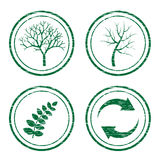 Scratched eco stamps Royalty Free Stock Photo