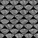 Scratched fan pattern. Based on Traditional Japanese Embroidery. Royalty Free Stock Photos