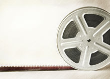 Scratched film reel Royalty Free Stock Image
