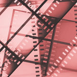 Scratched film strip background. Red scratched film strip background Royalty Free Stock Images