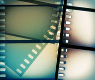Scratched film strip background. Vintage scratched film strip background Royalty Free Stock Photo