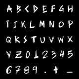 Scratched font Stock Photography
