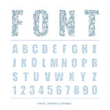 Scratched font Style alphabet, Vector illustration. Royalty Free Stock Images