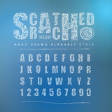 Scratched font Style alphabet, Vector illustration Royalty Free Stock Images