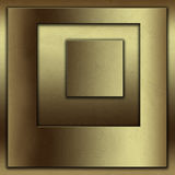 Scratched gold metal background Stock Photo