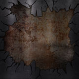 Scratched grunge metal background Royalty Free Stock Photography