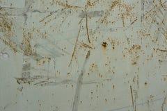 Scratched ha dipinto la vecchia struttura del portone del metallo Immagine Stock