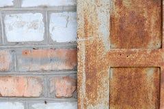 Scratched ha strappato la metallizzazione, lerciume Fotografie Stock Libere da Diritti