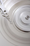 Scratched Hard Disk VII. A close up picture of a damaged hard disk Royalty Free Stock Photography