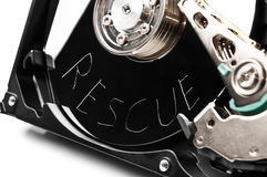 Scratched hard drive rescue Royalty Free Stock Photo