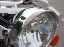Scratched headlight Royalty Free Stock Image
