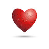 Scratched heart Royalty Free Stock Photo