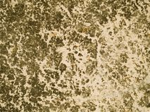 Scratched metal background. Horizontal background of peeling scratched and rusting painted metal Royalty Free Stock Image
